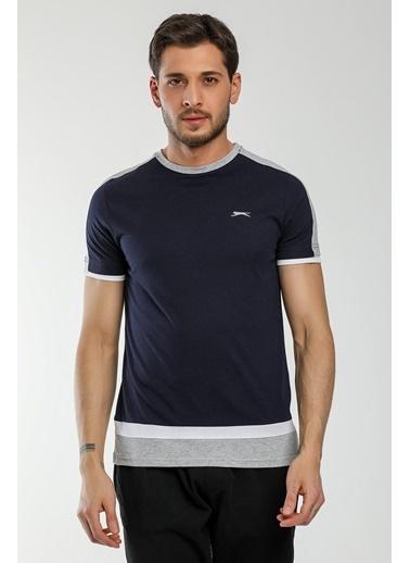 Slazenger Slazenger MASS Erkek T-Shirt Sarı Lacivert